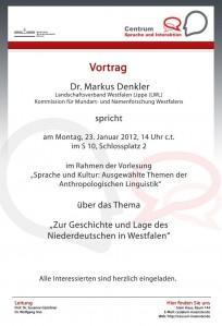 23.01.2012: Vortrag Dr. Markus Denkler (Landschaftsverband Westfalen Lippe)