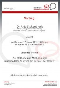 17.01.2012: Vortrag Dr. Anja Stukenbrock (Albert-Ludwigs-Universität Freiburg)