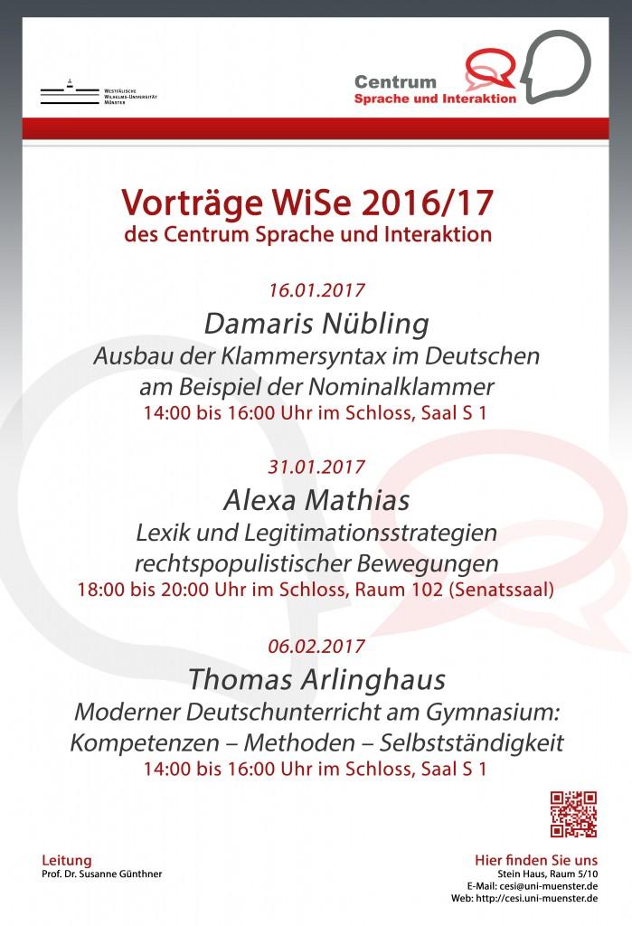 Vorträge im WiSe 2016/17