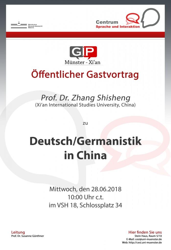 Gastvortrag von Prof. Dr. Zhang
